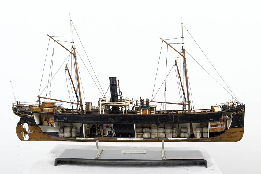 To-scale model of the steamship