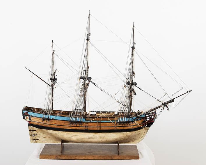 Fragata mercante del siglo XVIII.