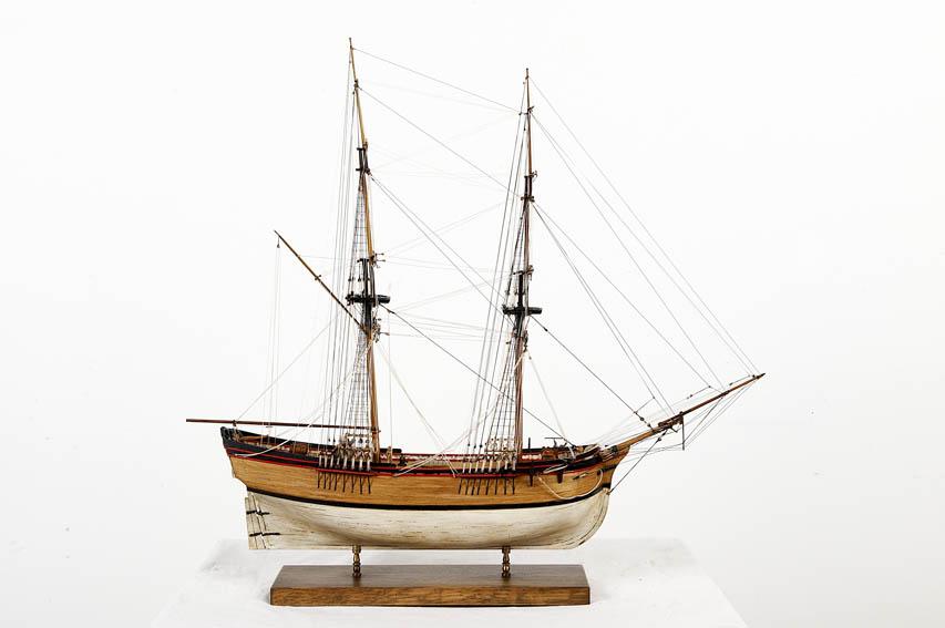 Bergantín mercante del siglo XVIII.