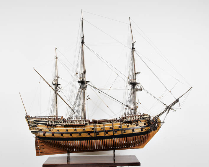 Navío de 64 cañones construido en los astilleros de Pasajes, Orio  y San Sebastián.