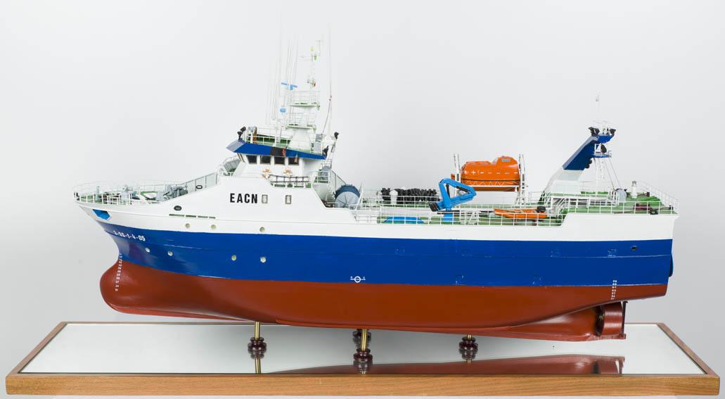 Modelo del pesquero de altura Egunabar, dedicado y diseñado para la pesca en aguas de Noruega. Fue botado en 2005 y puesto en servicio en 2006 para los armadores Laurak Bat de Pasajes. Es una embarcac
