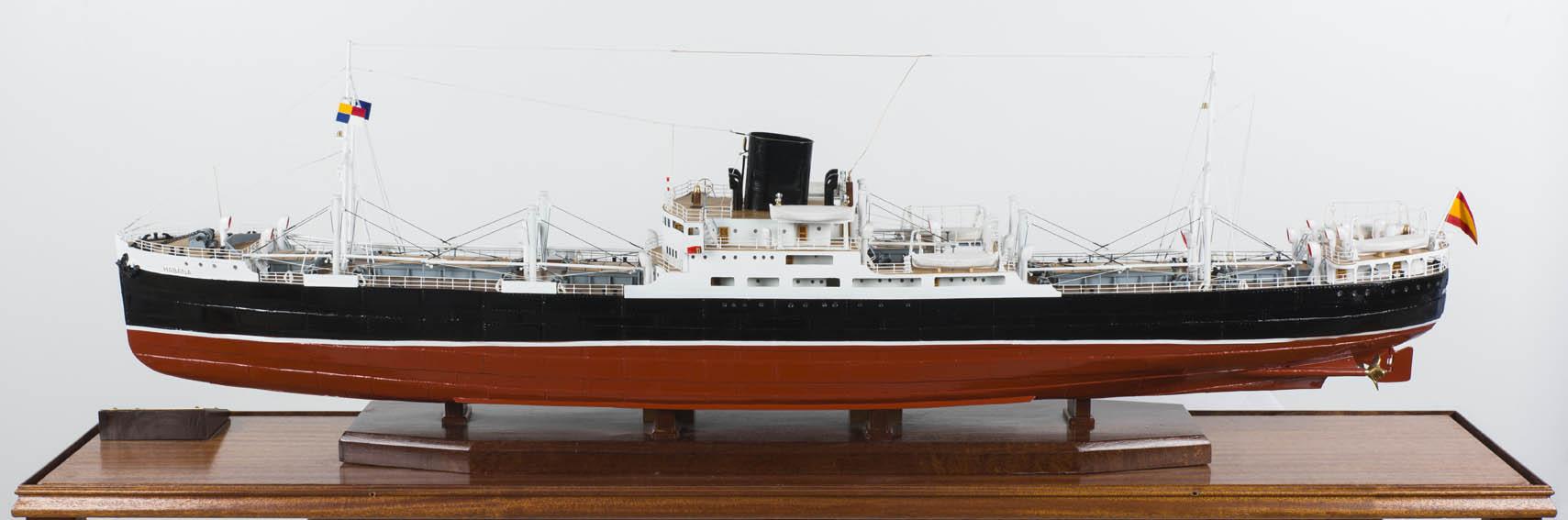 Modelo del vapor de pasajeros a turbinas Habana, construido en el año 1923 y perteneciente a la Compañía Transatlántica Española. Su anterior nombre era