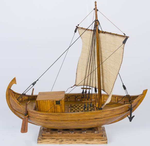 Modelo a escala de un mercante romano de tipología atlántica o de